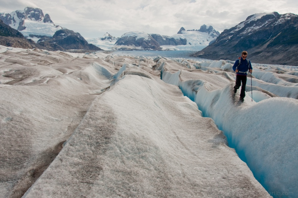 Timmy ONeill explores the Nef Glacier